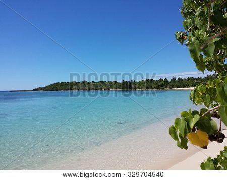 Sand Beach In Tropical Idyllic Paradise Island - Caribbean - Guadalupe. Antilles.- Beach, Paradise B
