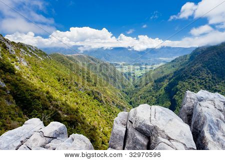 Takaka hill limestone outcrops, Takaka valley, NZ