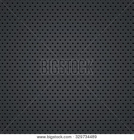 Black Metal Steel Texture Of Holes, Halftone Pattern