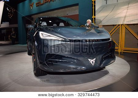 Frankfurt, Germany, September 10-2019: Cupra Tavascan Concept Iaa 2019