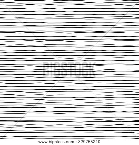 Abstract Pattern With Hand Drawn Chaos Lines Or Stripes. Strokes. Wave Background