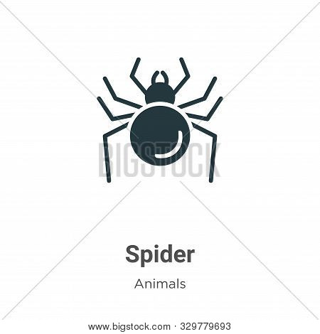 Spider icon isolated on white background from animals collection. Spider icon trendy and modern Spid