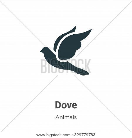 Dove icon isolated on white background from animals collection. Dove icon trendy and modern Dove sym