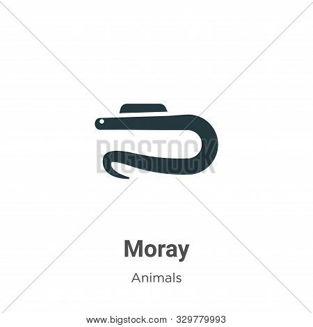 Moray icon isolated on white background from animals collection. Moray icon trendy and modern Moray