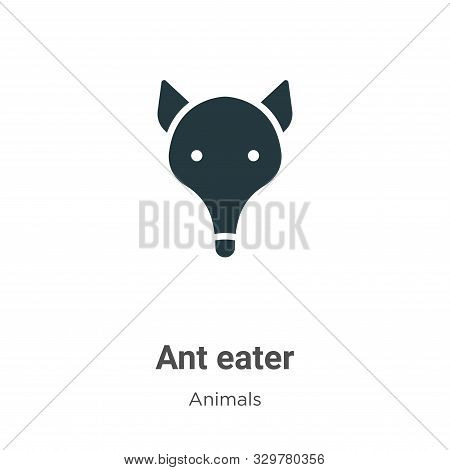 Ant Eater Vector Icon On White Background. Flat Vector Ant Eater Icon Symbol Sign From Modern Animal