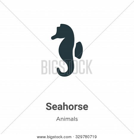 Seahorse icon isolated on white background from animals collection. Seahorse icon trendy and modern