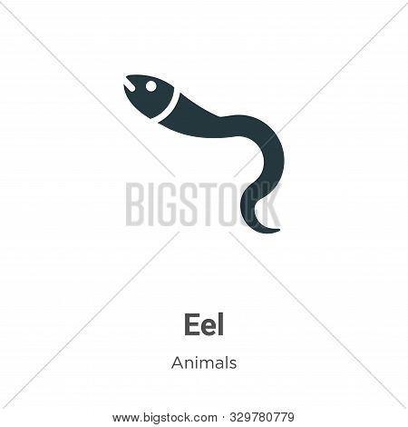 Eel icon isolated on white background from animals collection. Eel icon trendy and modern Eel symbol