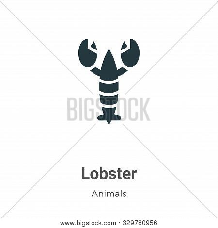 Lobster icon isolated on white background from animals collection. Lobster icon trendy and modern Lo