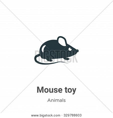 Mouse toy icon isolated on white background from animals collection. Mouse toy icon trendy and moder