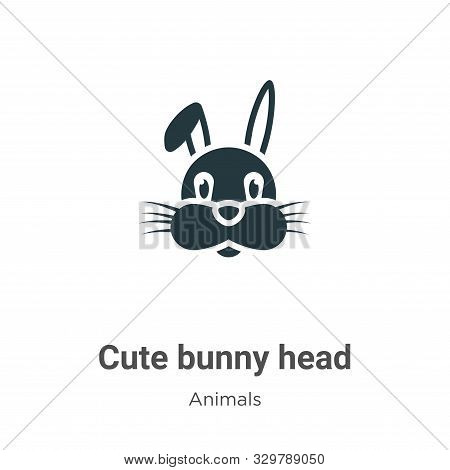 Cute bunny head icon isolated on white background from animals collection. Cute bunny head icon tren