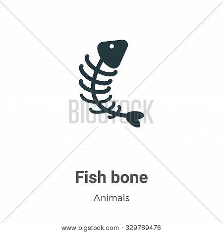 Fish bone icon isolated on white background from animals collection. Fish bone icon trendy and moder