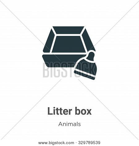 Litter Box Vector Icon On White Background. Flat Vector Litter Box Icon Symbol Sign From Modern Anim
