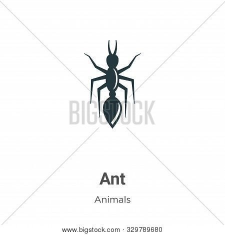 Ant icon isolated on white background from animals collection. Ant icon trendy and modern Ant symbol