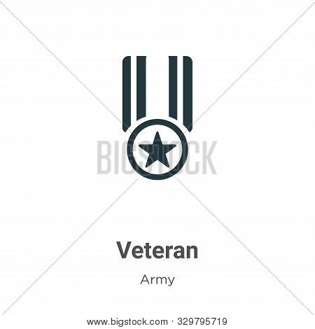 Veteran icon isolated on white background from army collection. Veteran icon trendy and modern Veter