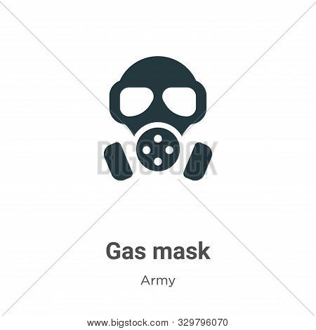 Gas mask icon isolated on white background from army collection. Gas mask icon trendy and modern Gas