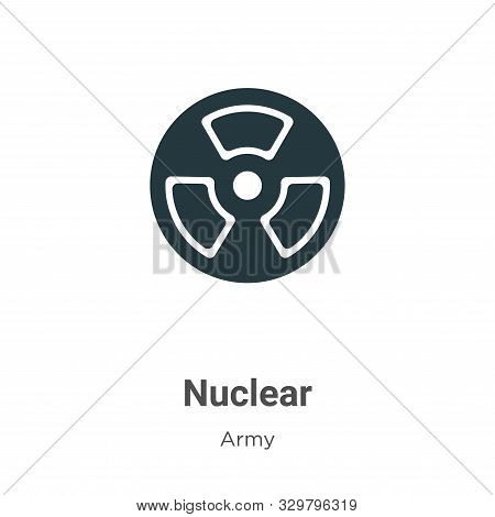 Nuclear icon isolated on white background from army collection. Nuclear icon trendy and modern Nucle
