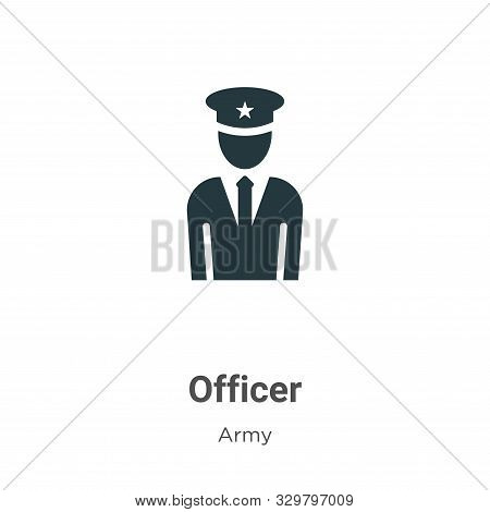 Officer icon isolated on white background from army collection. Officer icon trendy and modern Offic
