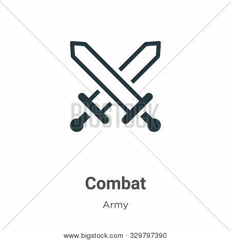 Combat icon isolated on white background from army collection. Combat icon trendy and modern Combat