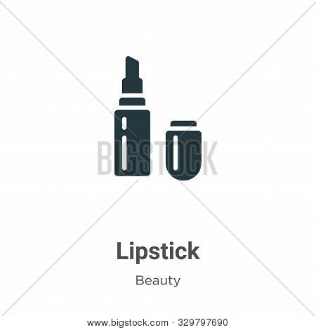 Lipstick icon isolated on white background from beauty collection. Lipstick icon trendy and modern L