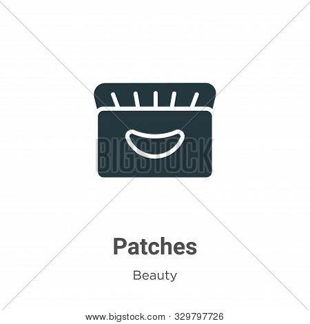 Patches icon isolated on white background from beauty collection. Patches icon trendy and modern Pat