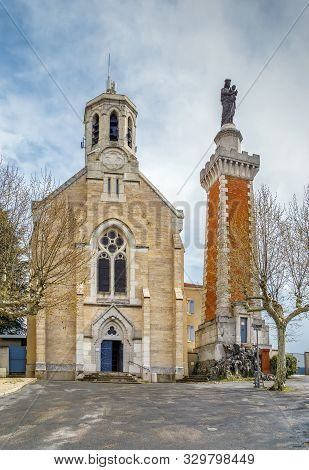 Chapel Of Notre-dame De Pipet On The Hill Of Pipet, Vienne, France