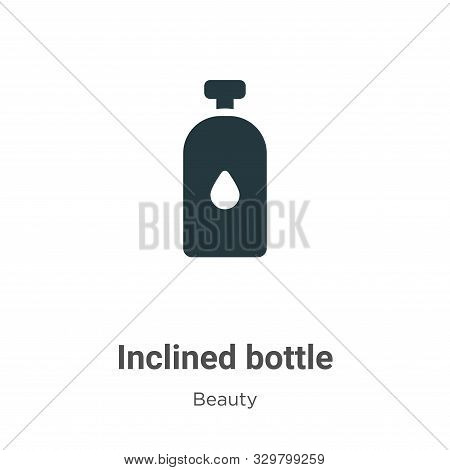 Inclined bottle icon isolated on white background from beauty collection. Inclined bottle icon trend