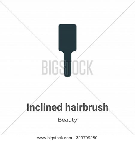 Inclined hairbrush icon isolated on white background from beauty collection. Inclined hairbrush icon
