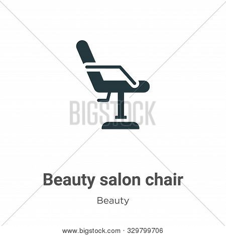 Beauty salon chair icon isolated on white background from beauty collection. Beauty salon chair icon
