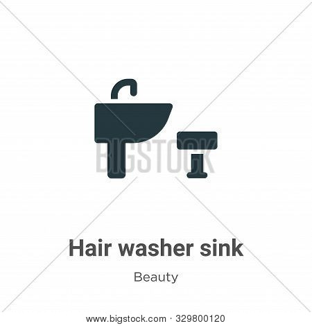 Hair washer sink icon isolated on white background from beauty collection. Hair washer sink icon tre