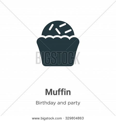 Muffin icon isolated on white background from birthday and party collection. Muffin icon trendy and