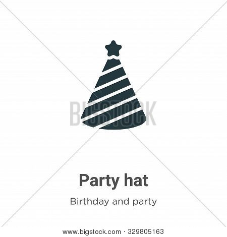 Party hat icon isolated on white background from birthday and party collection. Party hat icon trend