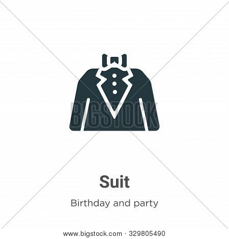 Suit icon isolated on white background from birthday and party collection. Suit icon trendy and mode