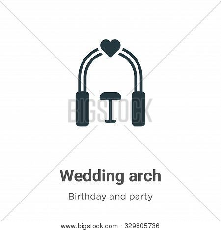 Wedding arch icon isolated on white background from birthday and party collection. Wedding arch icon