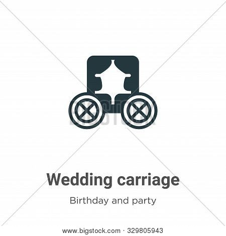 Wedding carriage icon isolated on white background from birthday and party collection. Wedding carri