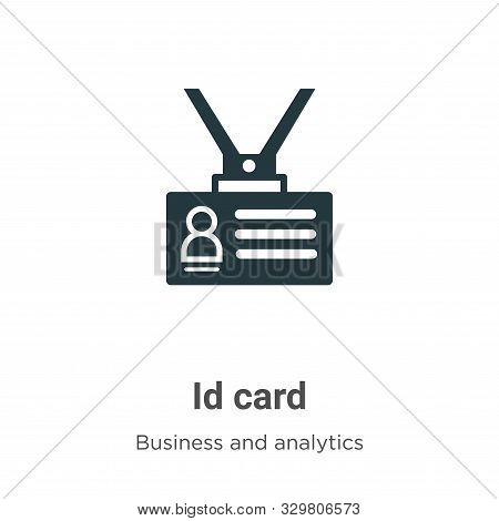 Id card icon isolated on white background from business and analytics collection. Id card icon trend