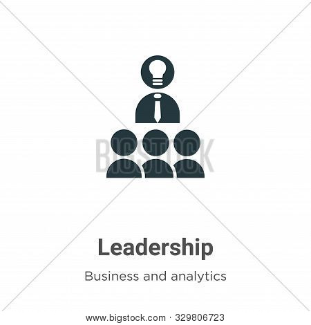 Leadership icon isolated on white background from business and analytics collection. Leadership icon