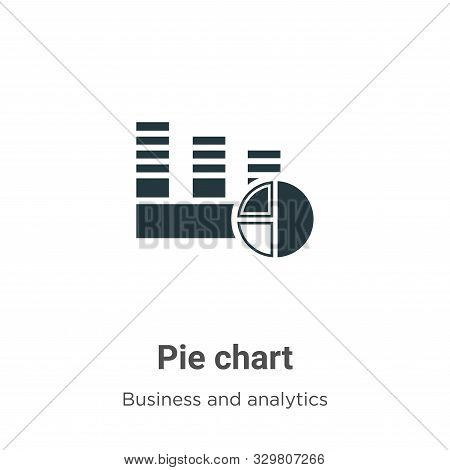 Pie chart icon isolated on white background from business and analytics collection. Pie chart icon t