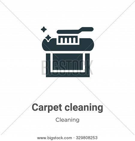 Carpet cleaning icon isolated on white background from cleaning collection. Carpet cleaning icon tre