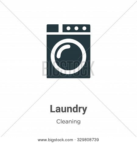 Laundry icon isolated on white background from cleaning collection. Laundry icon trendy and modern L