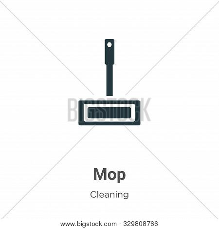 Mop icon isolated on white background from cleaning collection. Mop icon trendy and modern Mop symbo