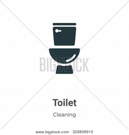 Toilet icon isolated on white background from cleaning collection. Toilet icon trendy and modern Toi