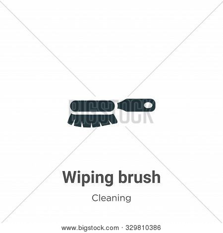 Wiping brush icon isolated on white background from cleaning collection. Wiping brush icon trendy an