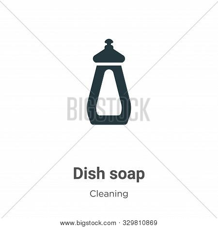 Dish soap icon isolated on white background from cleaning collection. Dish soap icon trendy and mode