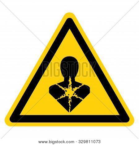 Warning Longer Term Health Hazard,ghs Hazard Pictogram, Vector Illustration, Isolate On White Backgr