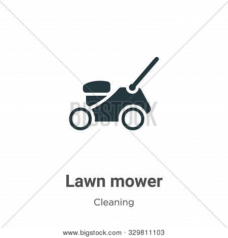 Lawn mower icon isolated on white background from cleaning collection. Lawn mower icon trendy and mo