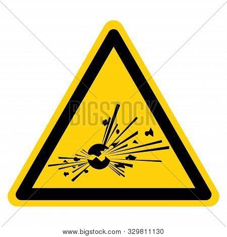 Warning Explosive Symbol Sign, Vector Illustration, Isolate On White Background Label. Eps10
