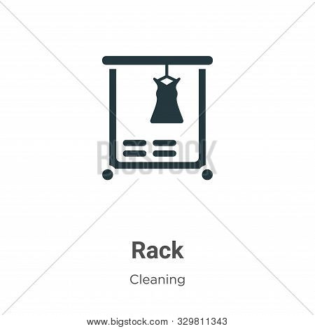 Rack icon isolated on white background from cleaning collection. Rack icon trendy and modern Rack sy
