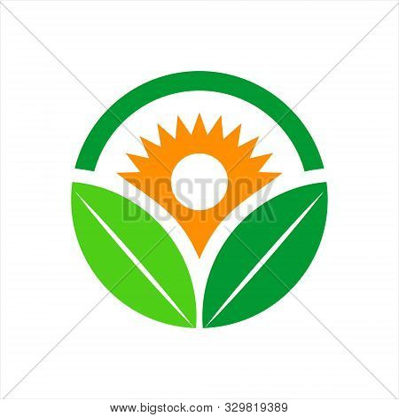 Green Leaf Logo Ecology Nature And Vector Icon Leaf. Design Shape Leaf Logo And Abstract Organic Lea