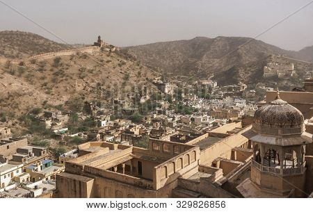 Amber Fort Is A Huge, Magnificent Palace And Fortress, An Example Of Rajput Architecture