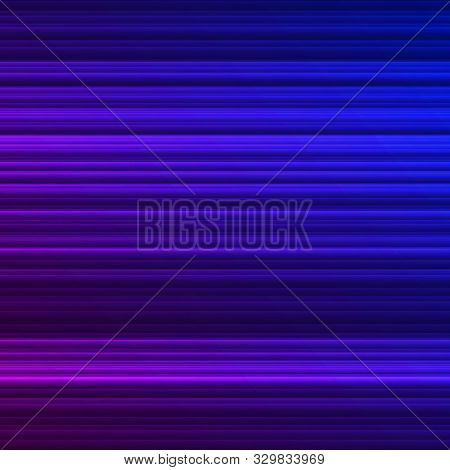 Abstract Background With Glowing Lines, Neon Stripes, Vector Illustration, Eps 10